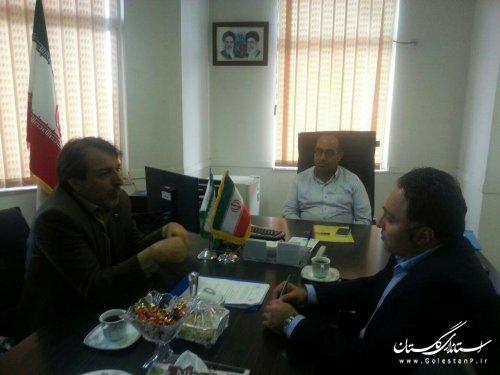 جلسه مدیرکل پدافند غیر عامل با قائم مقام اداره کل بهزیستی استان