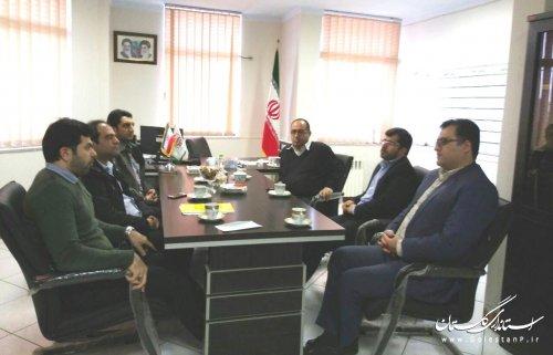 نشست هم اندیشی مدیرکل پدافند غیرعامل با معاون بنیاد مسکن انقلاب اسلامی استان