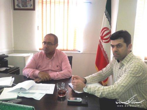 جلسه بررسی تغییرات هدایت الکتریکی آب شرب شهرکردکوی برگزتر گردید.
