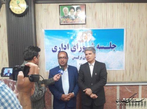 سخنرانی مدیرکل پدافند غیرعامل در جلسه شورای اداری شهرستان بندرترکمن
