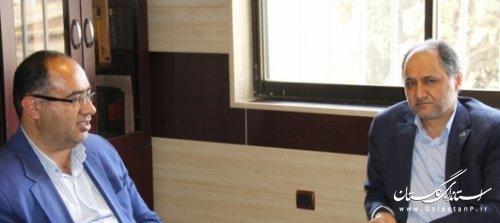 جلسه مدیر کل پدافند غیر عامل با مدیرعامل شرکت توزیع نیروی برق استان گلستان