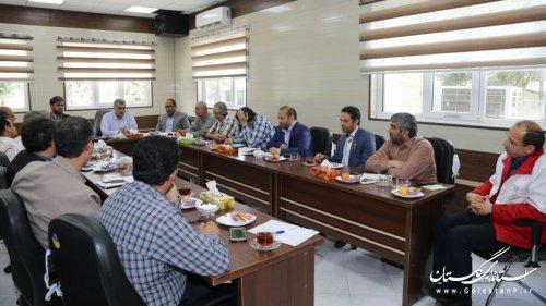 جلسه کارگروه بهداشت،سلامت وبیولوژیک درخصوص طرح جامع پدافندغیرعامل استان