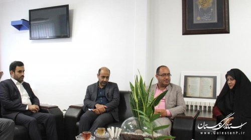 جلسه هم اندیشی مدیرکل پدافند غیرعامل با مدیرکل فرهنگ و ارشاد اسلامی استان