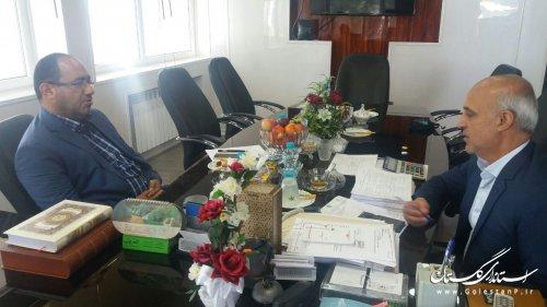 جلسه هم اندیشی مدیرکل پدافند غیرعامل با مدیرکل غله و خدمات بازرگانی استان