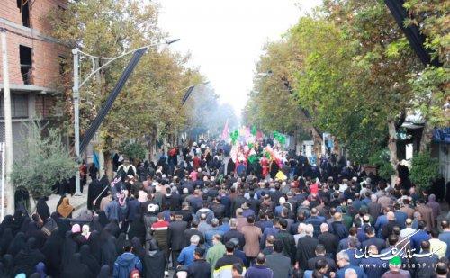 مراسم پیاده روی اربعین حسینی و پدافند غیرعامل؛افزایش بازدارندگی برگزار شد