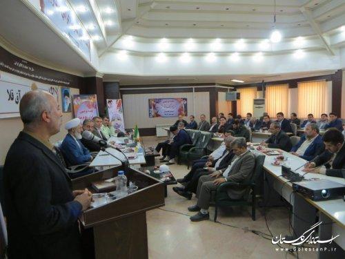 برگزاری همایش آموزشی الزامات پدافند غیرعامل در شهرستان آق قلا