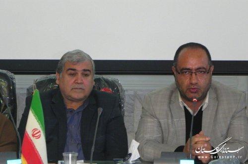 حضور و سخنرانی مدیرکل پدافند غیرعامل در جلسه شورای اداری شهرستان مینودشت