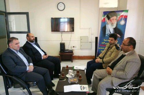 نشست هم اندیشی مدیرکل پدافند غیرعامل با مدیرکل راه و شهرسازی استان