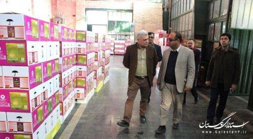بازدید مدیر کل پدافند غیر عامل استان از کارخانه گل سم گرگان