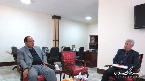 دیدار مدیرکل پدافند غیرعامل استانداری گلستان با فرماندار گالیکش