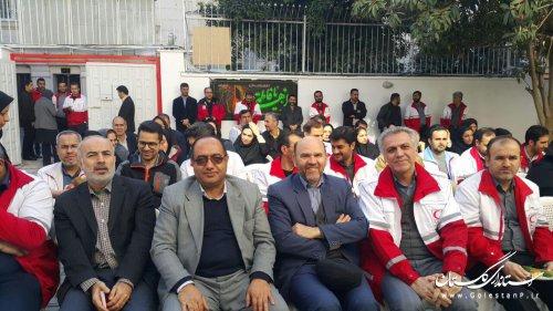 با حضور مدیرکل پدافند غیرعامل مرکز توانبخشی هلال احمر گرگان افتتاح شد
