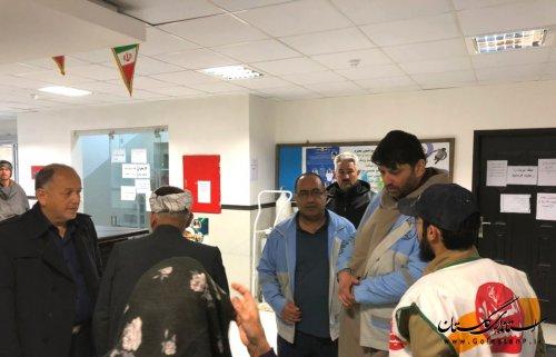 بازدید مدیرکل پدافندغیرعامل از تیم های پزشکی درگمیشان جهت کمک به سیل زدگان