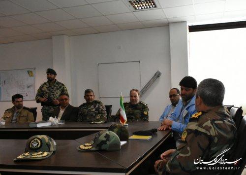 حضور فرمانده کل ارتش جمهوری اسلامی ایران در مناطق سیل زده گلستان و جلسه در فرمانداری