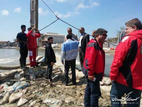 بازدید مدیرکل پدافند غیرعامل از وضعیت تخلیه آبگرفتگی و امدادرسانی به سیل زدگان