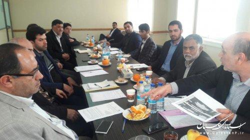 جلسه هم افزایی درخصوص بررسی مطالعات طرح جامع پدافندغیرعامل استان وشهرگرگان