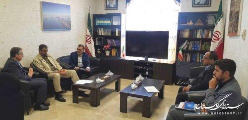 دیدار معاون بسیج و امور استانهای سازمان پدافند غیرعامل کشور با معاون سیاسی استاندار