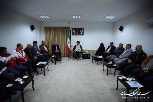 دیدار اعضاي شوراي پدافند غيرعامل استان با نماينده ولي فقيه در استان