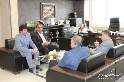 جلسه مدیرکل پدافند غیرعامل با مدیرعامل بانک مسکن استان