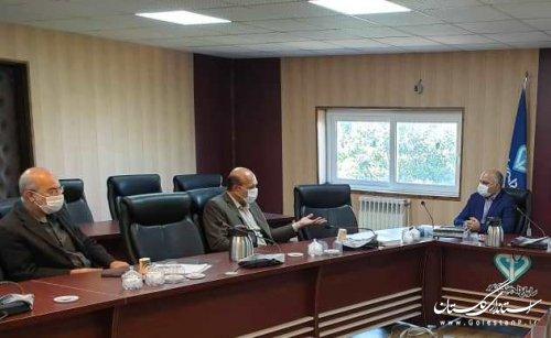 جلسه هم اندیشی مدیرکل پدافند غیرعامل و مدیرکل دامپزشکی استان